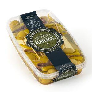 bandeja de 15 gildas de anchoa Albizabal